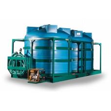 Кассета для подвоза воды и КАС 5000х2S2 в усиленном каркасе с мотопомпой