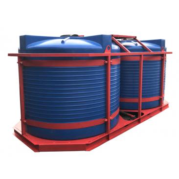 Кассета для перевозки воды, КАС и ЖКУ 2х5000Т blue (макс. 10000, усиленный двойной каркас)